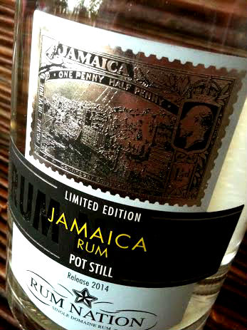 RUM NATION JAMAICA POT STILL bottle close