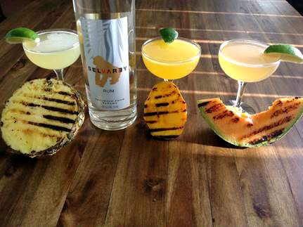 Selvarey rum Grilled-fruit-daiquiri