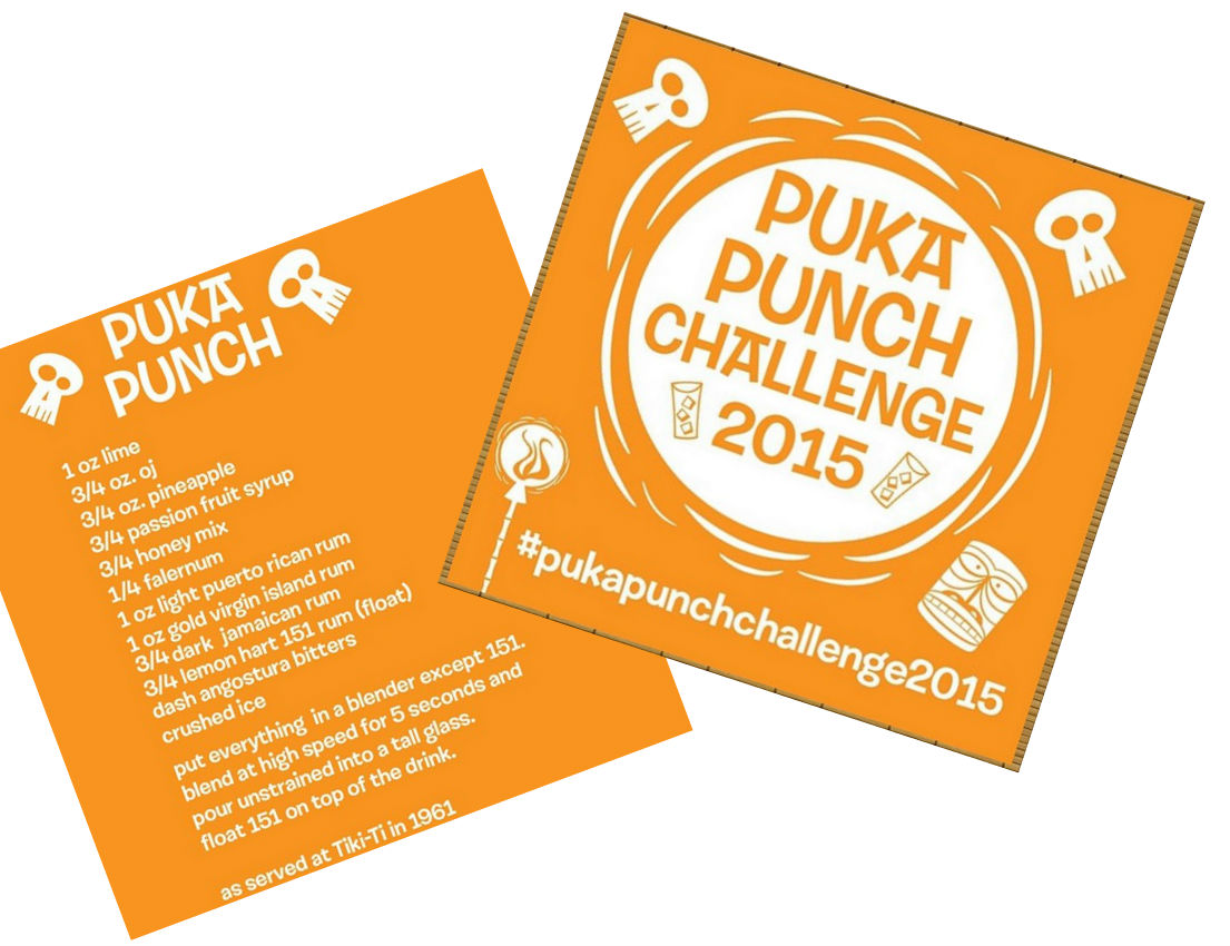 Puka Punch Challenge recipe logo collage